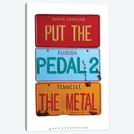 Pedal 2 The Metal Canvas Print #GCO23} by Gregory Constantine Canvas Wall Art