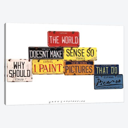 Picasso Sense Canvas Print #GCO24} by Gregory Constantine Canvas Art Print