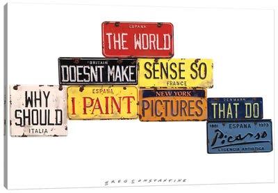 Picasso Sense Canvas Art Print