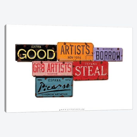 Picasso Steal 3-Piece Canvas #GCO25} by Gregory Constantine Canvas Art Print