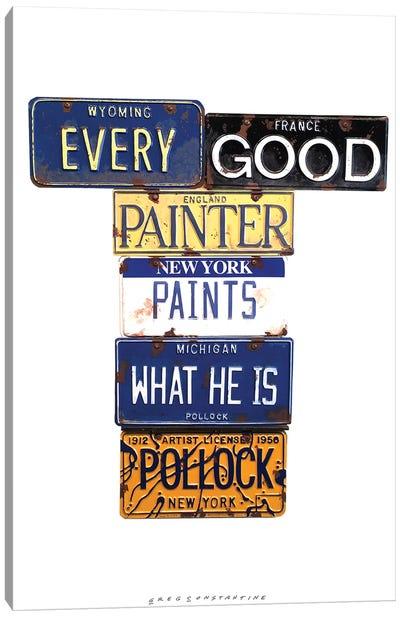 Pollock Paints Canvas Art Print