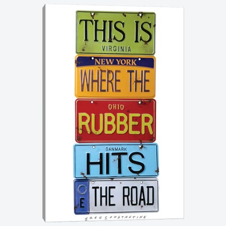 Rubber Meets The Road Canvas Print #GCO31} by Gregory Constantine Canvas Print