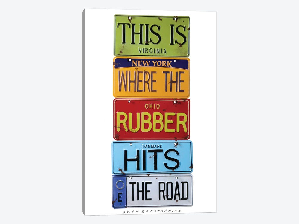 Rubber Meets The Road by Gregory Constantine 1-piece Canvas Art Print