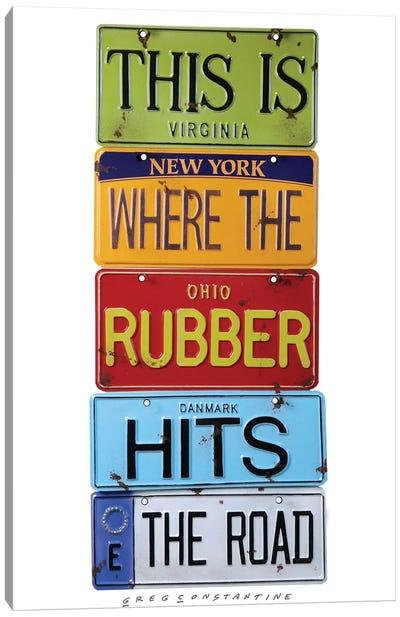 Rubber Meets The Road Canvas Art Print