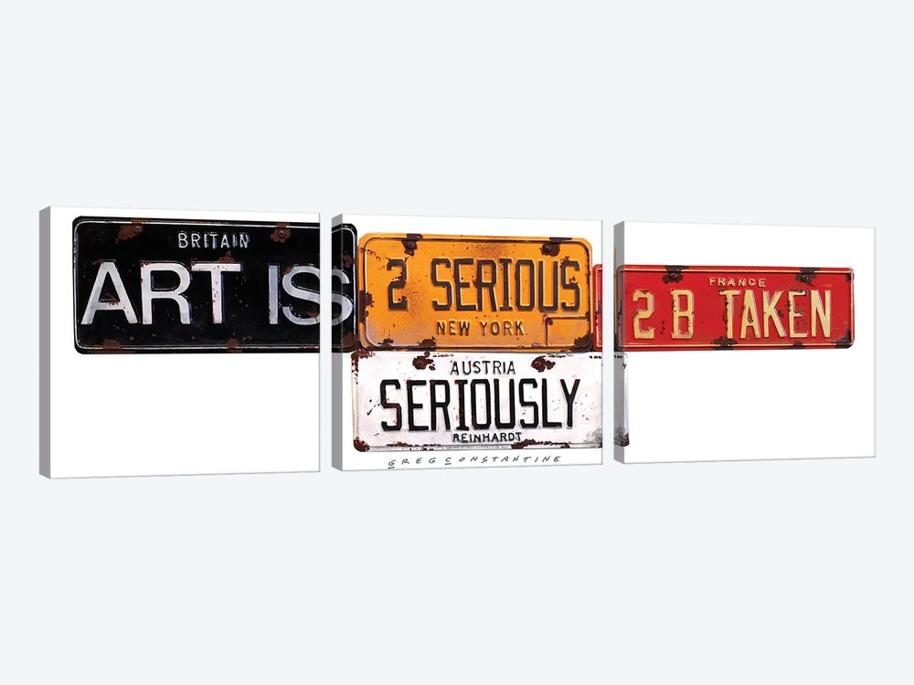 Seriously by Gregory Constantine 3-piece Canvas Wall Art