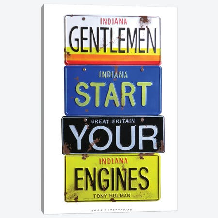 Start Your Engines Canvas Print #GCO33} by Gregory Constantine Canvas Art Print