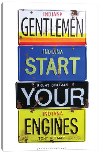 Start Your Engines Canvas Art Print
