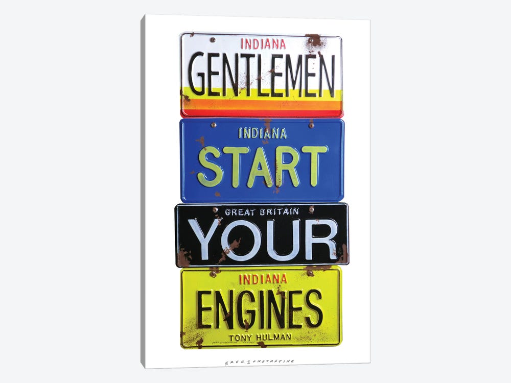 Start Your Engines by Gregory Constantine 1-piece Canvas Print