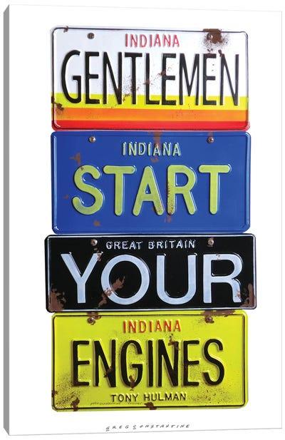 Start Your Engines Canvas Art Print