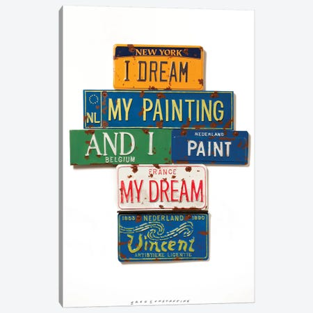 Vincent Dream 3-Piece Canvas #GCO36} by Gregory Constantine Canvas Artwork