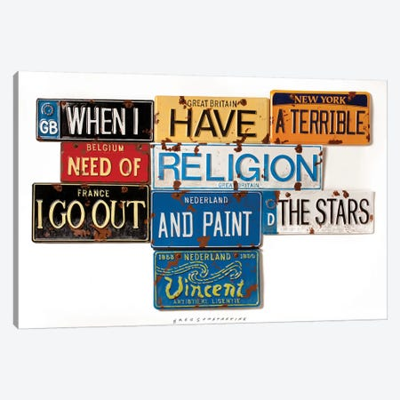 Vincent Religion Canvas Print #GCO37} by Gregory Constantine Canvas Art