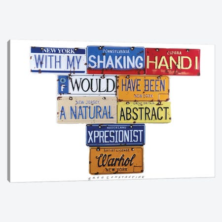 Warhol Shaking Hand Canvas Print #GCO40} by Gregory Constantine Canvas Artwork
