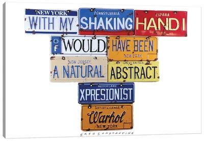 Warhol Shaking Hand Canvas Art Print