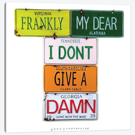 Frankly My Dear 3-Piece Canvas #GCO44} by Gregory Constantine Canvas Print