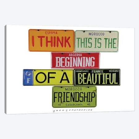 Friendship Canvas Print #GCO45} by Gregory Constantine Canvas Art Print