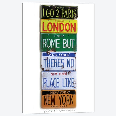 I Go 2 Paris Canvas Print #GCO46} by Gregory Constantine Art Print