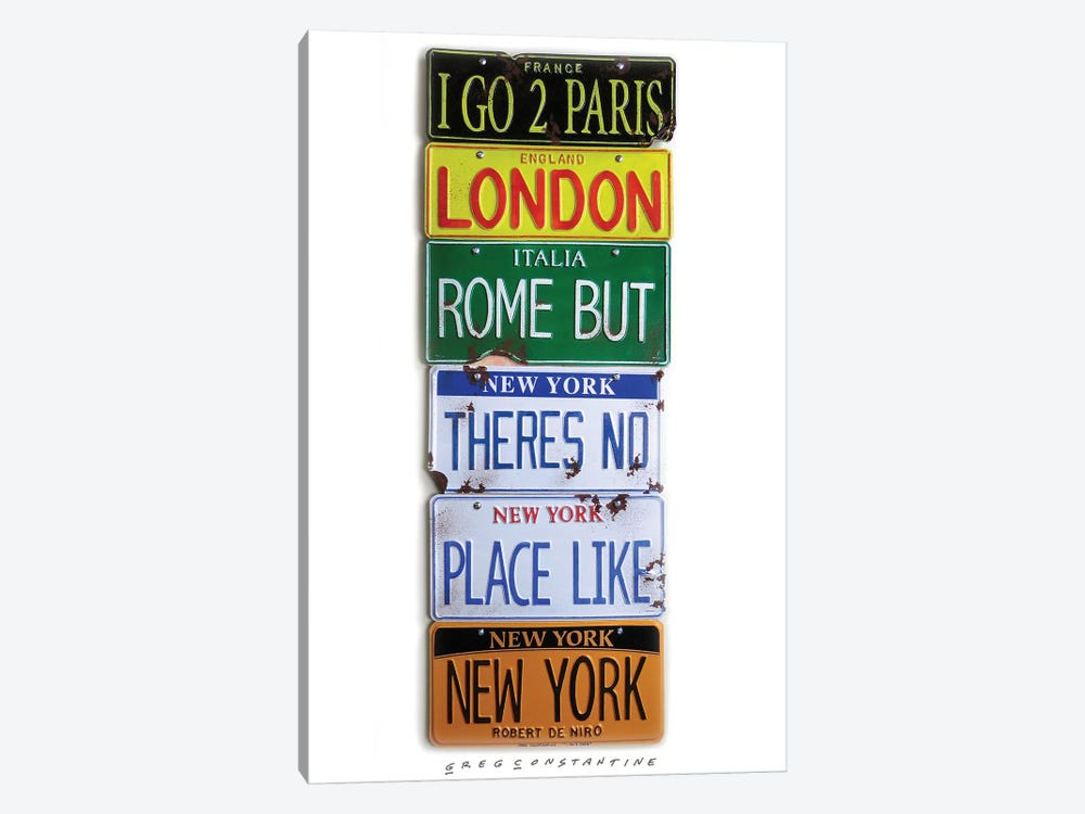 I Go 2 Paris by Gregory Constantine 1-piece Canvas Art Print