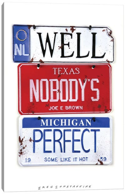 Nobody's Perfect Canvas Art Print