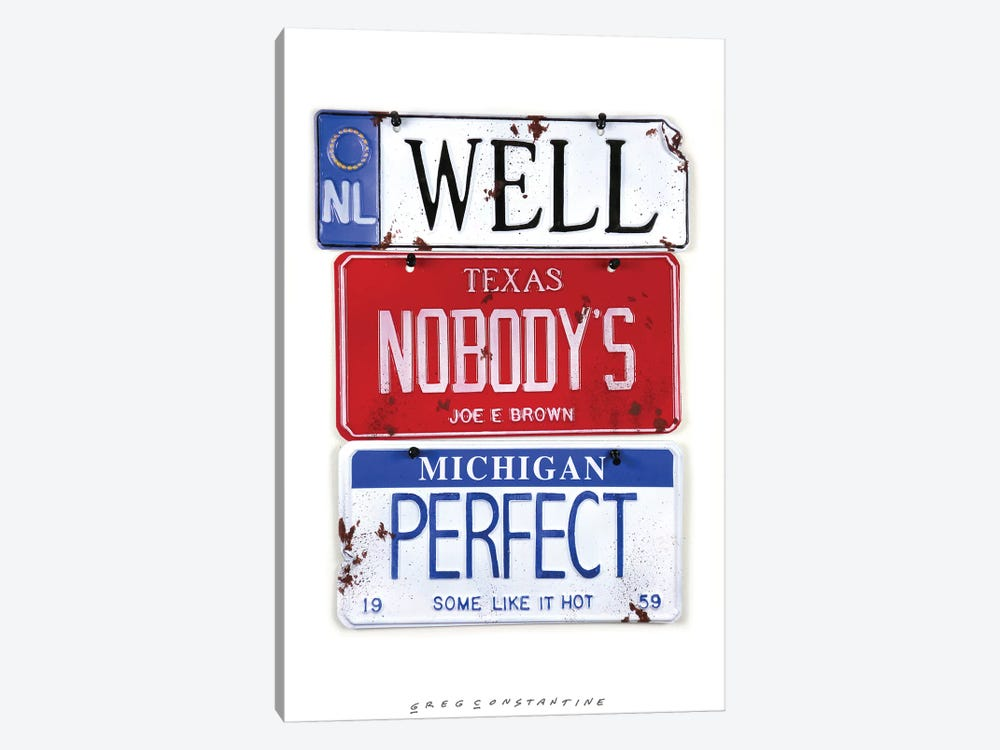 Nobody's Perfect by Gregory Constantine 1-piece Canvas Print