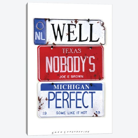 Nobody's Perfect 3-Piece Canvas #GCO51} by Gregory Constantine Canvas Art Print