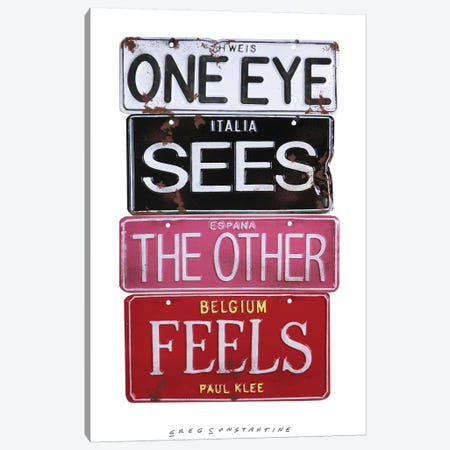 One Eye Sees Canvas Print #GCO53} by Gregory Constantine Canvas Print