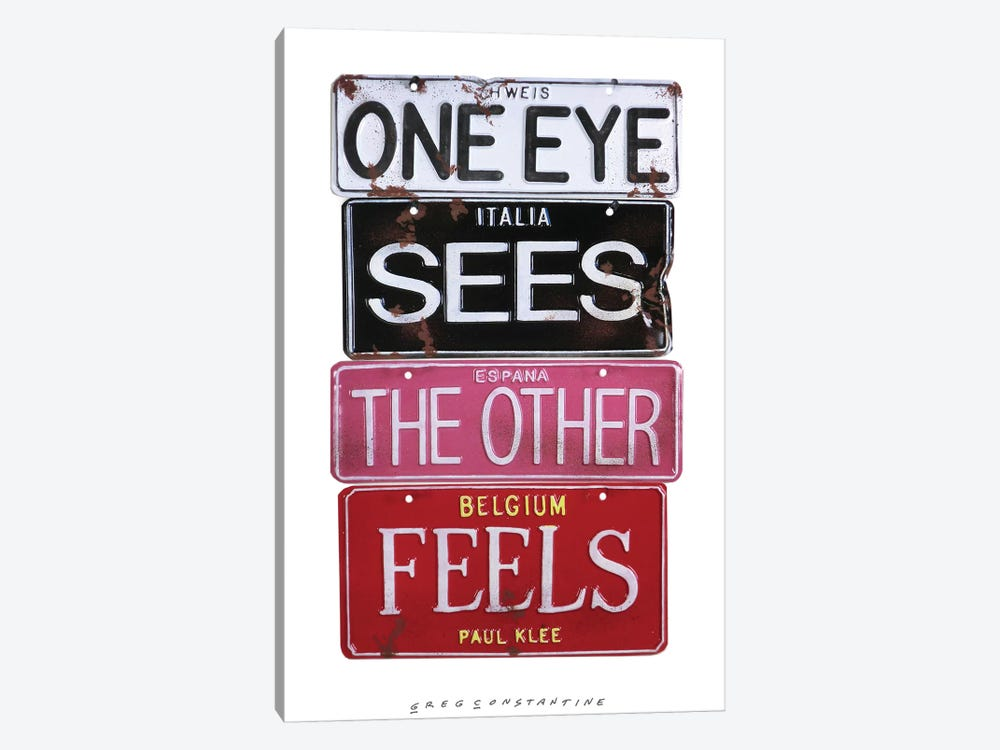 One Eye Sees by Gregory Constantine 1-piece Canvas Art Print