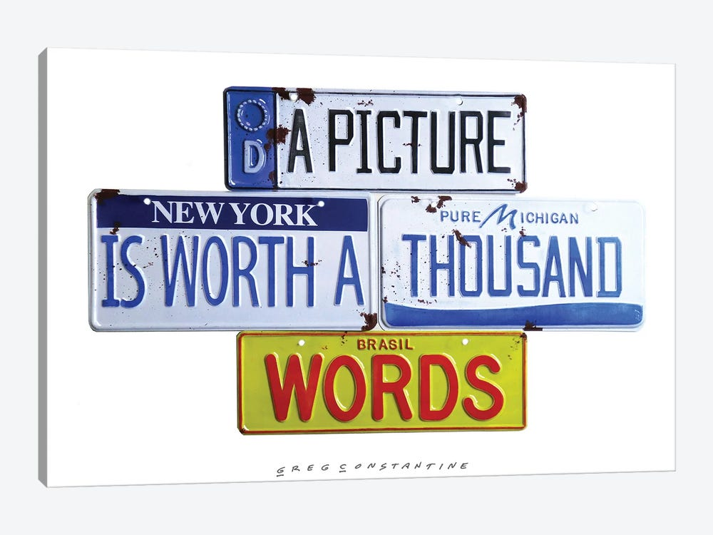 Thousand Words by Gregory Constantine 1-piece Canvas Wall Art