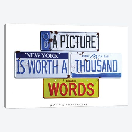 Thousand Words Canvas Print #GCO54} by Gregory Constantine Canvas Artwork