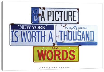 Thousand Words Canvas Art Print