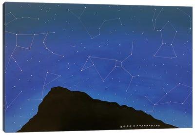 Mont St Gregoire Stars  Canvas Art Print