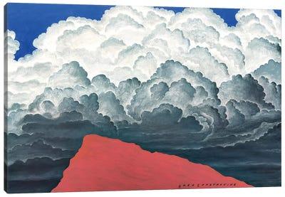 Mont St Gregoire White Clouds Canvas Art Print