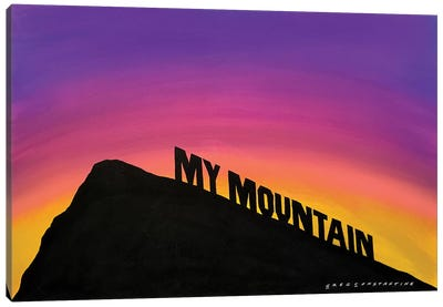 Mont St Gregoire My Mountain Canvas Art Print