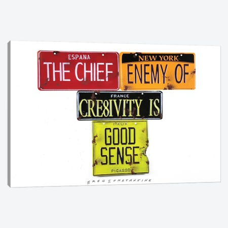 Chief Enemy 3-Piece Canvas #GCO7} by Gregory Constantine Canvas Art Print