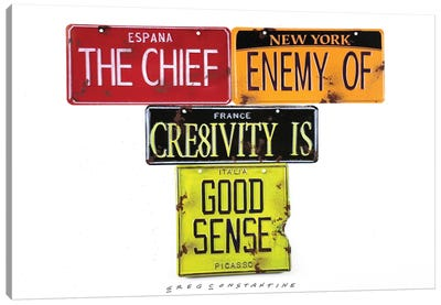 Chief Enemy Canvas Art Print
