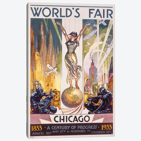 Chicago World's Fair, 1933 Canvas Print #GCS1} by Glen C. Sheffer Canvas Art Print