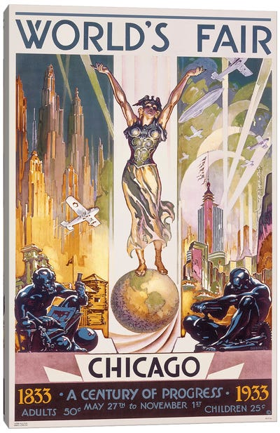 Chicago World's Fair, 1933 Canvas Art Print