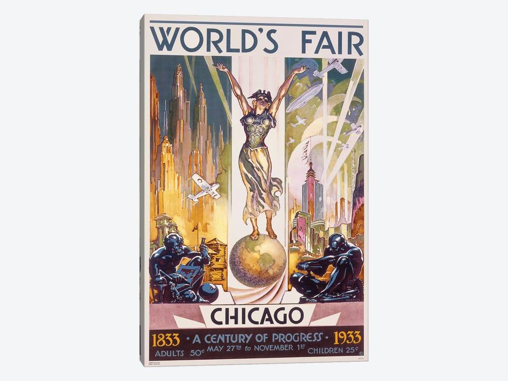 Chicago World's Fair, 1933 by Glen C. Sheffer 1-piece Canvas Art Print