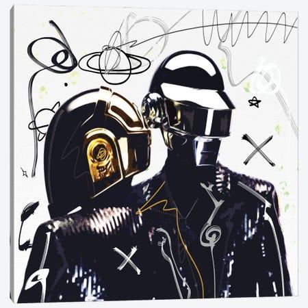Daft Punk Canvas Print #GCZ12} by Gabriel Cozzarelli Canvas Wall Art