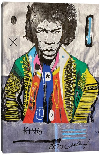 Hendrix NewsPaper Canvas Art Print