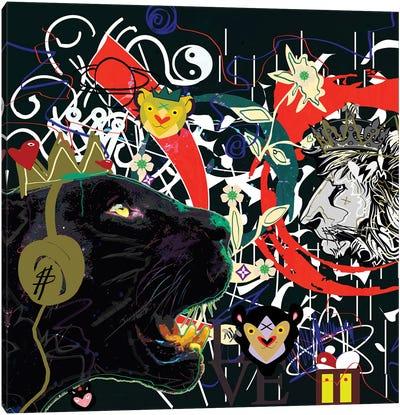 Black Jaguar Canvas Art Print