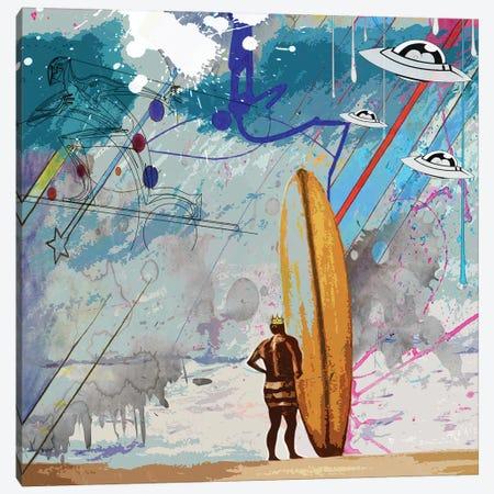 Surfers Canvas Print #GCZ53} by Gabriel Cozzarelli Canvas Artwork