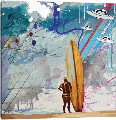 Surfers Canvas Art Print
