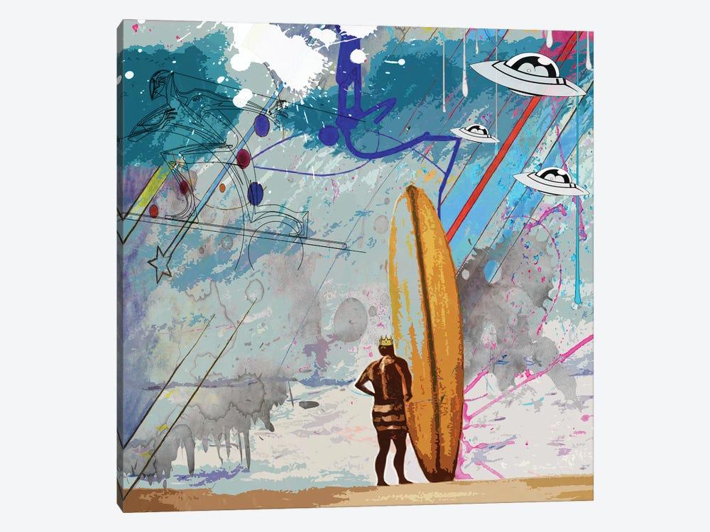 Surfers by Gabriel Cozzarelli 1-piece Canvas Artwork