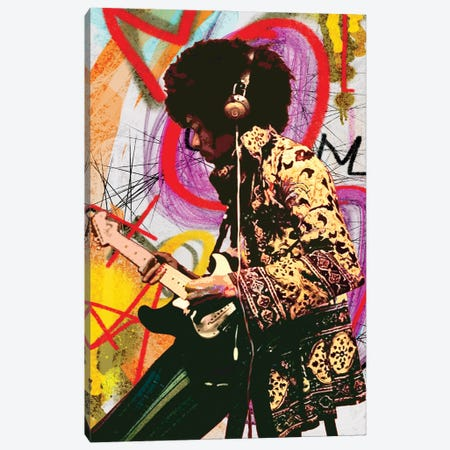 Hendrix X Canvas Print #GCZ64} by Gabriel Cozzarelli Canvas Artwork