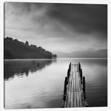 Lake View With Pier Ii Canvas Print #GDI4} by George Digalakis Canvas Art
