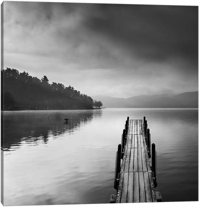 Lake View With Pier Ii Canvas Art Print
