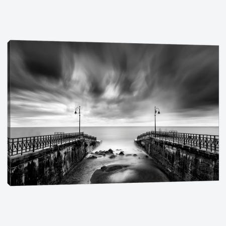 Double Pier Canvas Print #GDI6} by George Digalakis Canvas Wall Art