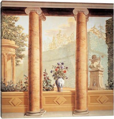 Colonnato Con Veduta Canvas Art Print