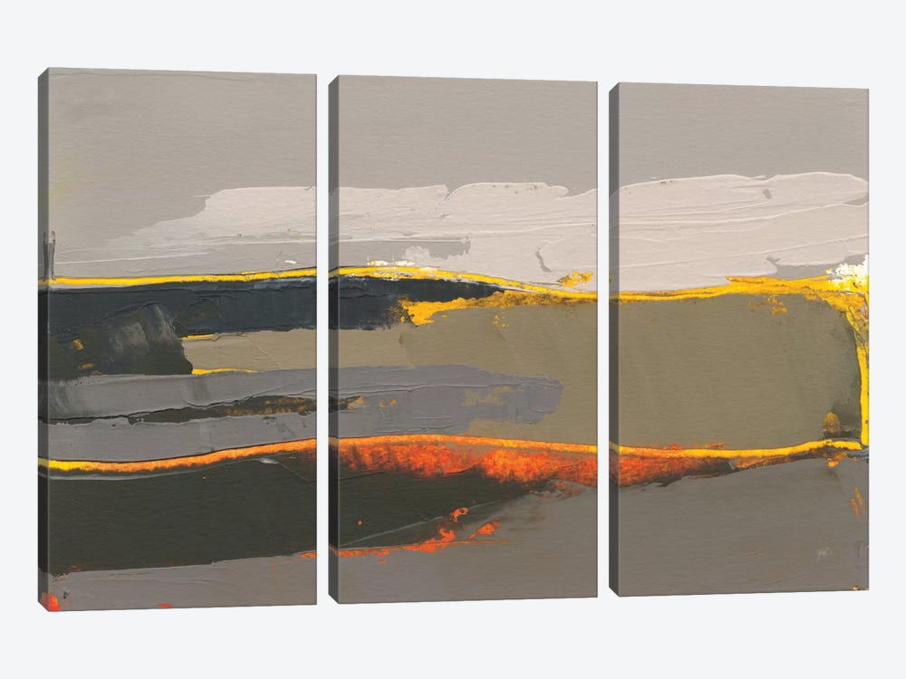 Ceide Study IV by Grainne Dowling 3-piece Canvas Print