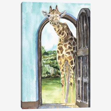 Knock Knock  Canvas Print #GDY100} by George Dyachenko Art Print